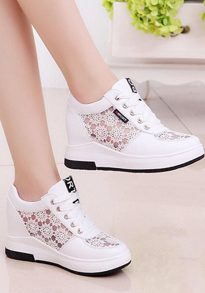 White Within The Higher Grenadine Patchwork Casual Shoes
