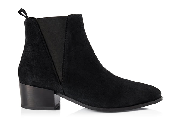 Pavement Karen Boots Black suede 017