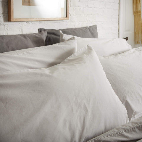 KOKO Washed Cotton Pillowcase Pair - Fog Grey