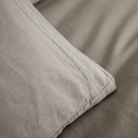 KOKO Washed Cotton Pillowcase Pair - Stone