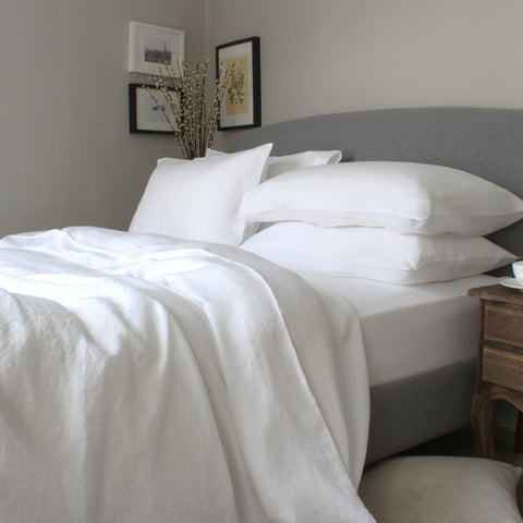 REMS White Pure Linen Duvet Cover Set