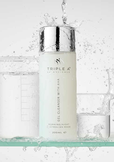 GEL CLEANSER WITH AHA - TRIPLE A SKIN SCIENCE