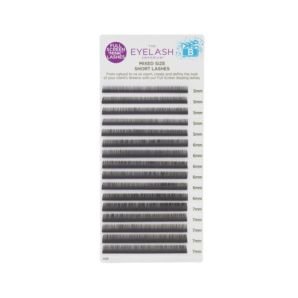 B-Curl Full Screen 'Mink' Lashes (Short Mixed Lengths)