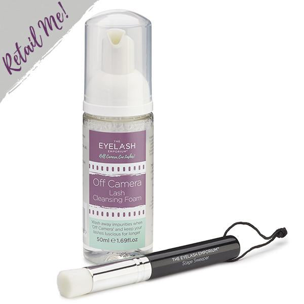 Lash Cleansing Set - (Lash Foam Cleanser & Brush)