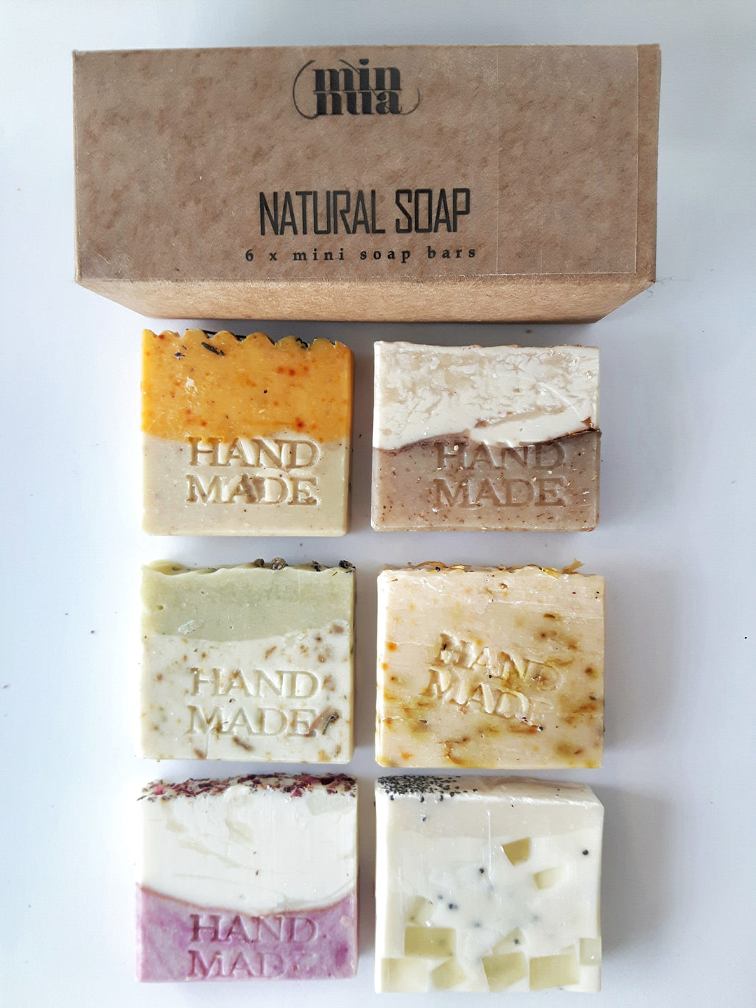 BOX with 6 mini soaps - minnua