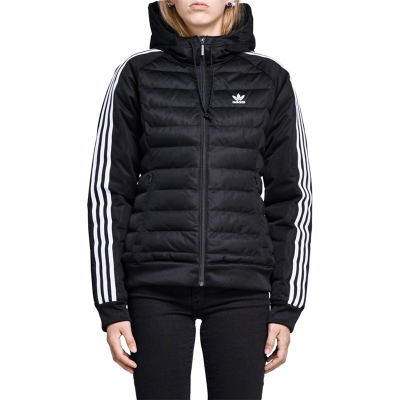 c9fc0287a864 Adidas Originals Slim Padded Jacket - Black - DH4587 - Womens ...