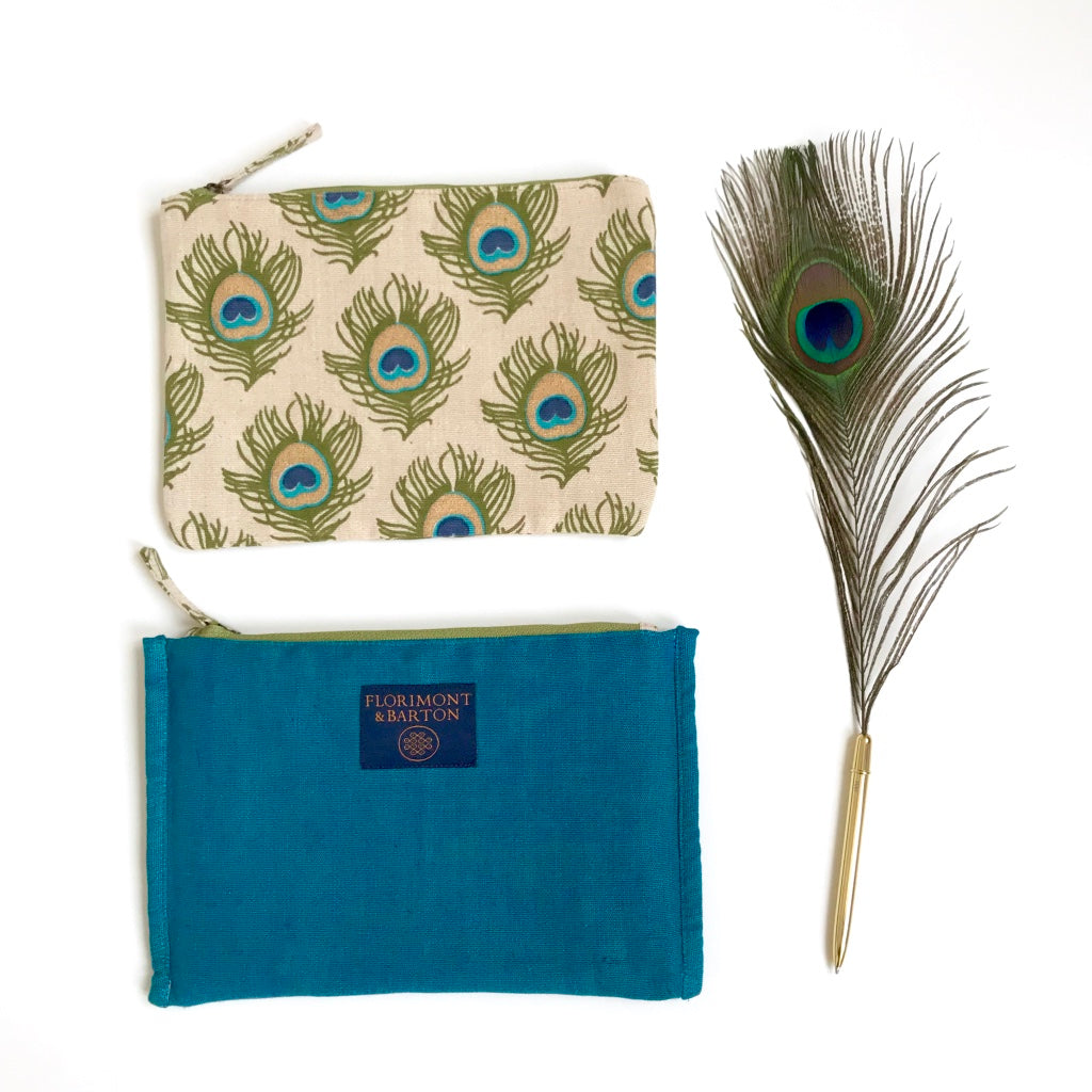 Pouch - Peacock Feather