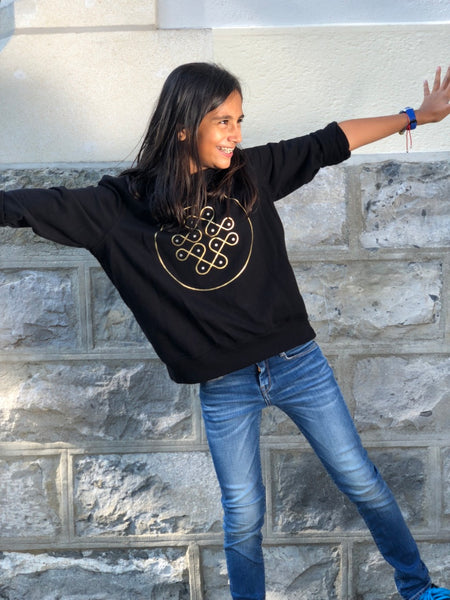 Sweatshirt with Gold Kolam