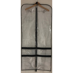 DSA0130 CLEAR PVC POCKETED GARMENT BAG 130cm