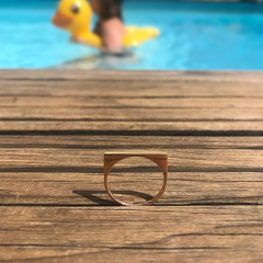 Ink3D Ring - Squared Circle - Rose Gold Plated