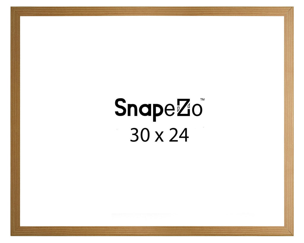 Light Wood SnapeZo® snap frame poster size 24X30 - 1 inch profile ...