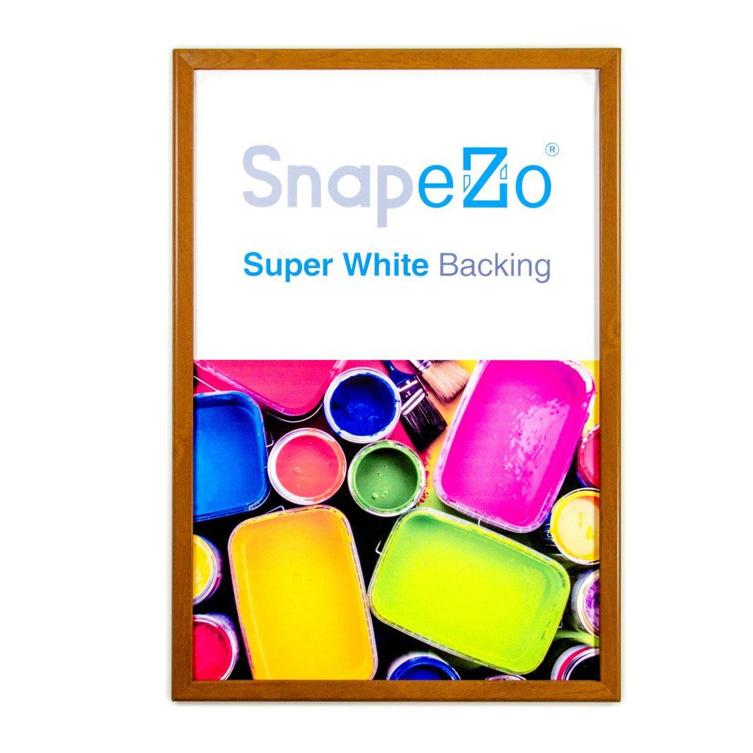 22x56 Dark Wood SnapeZo® Snap Frame - 1.25 Inch Profile