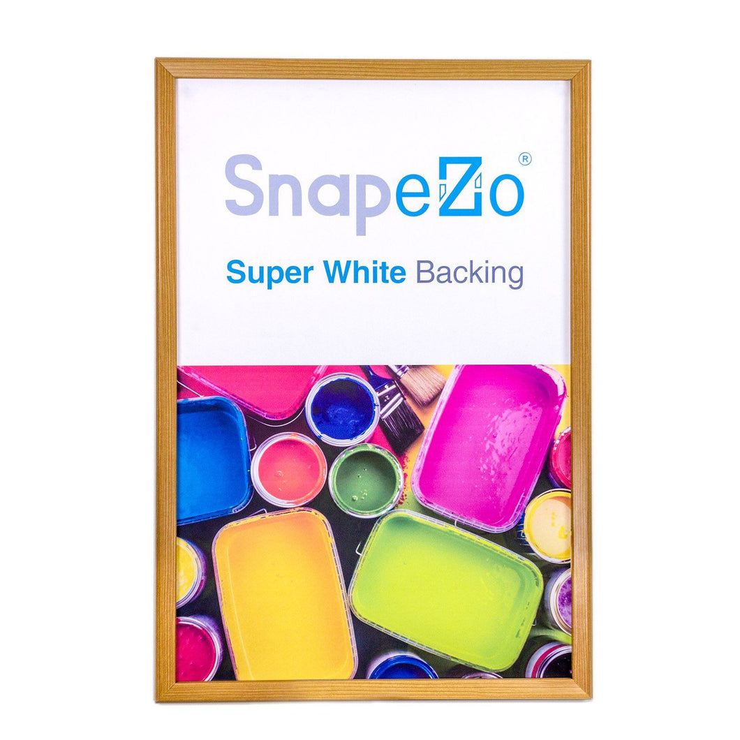 24x32 Light Wood SnapeZo® Snap Frame - 1.2 Inch Profile
