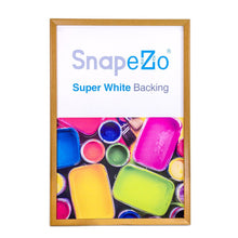 Load image into Gallery viewer, 20x30 Light Wood SnapeZo® Snap Frame - 1.25 Inch Profile