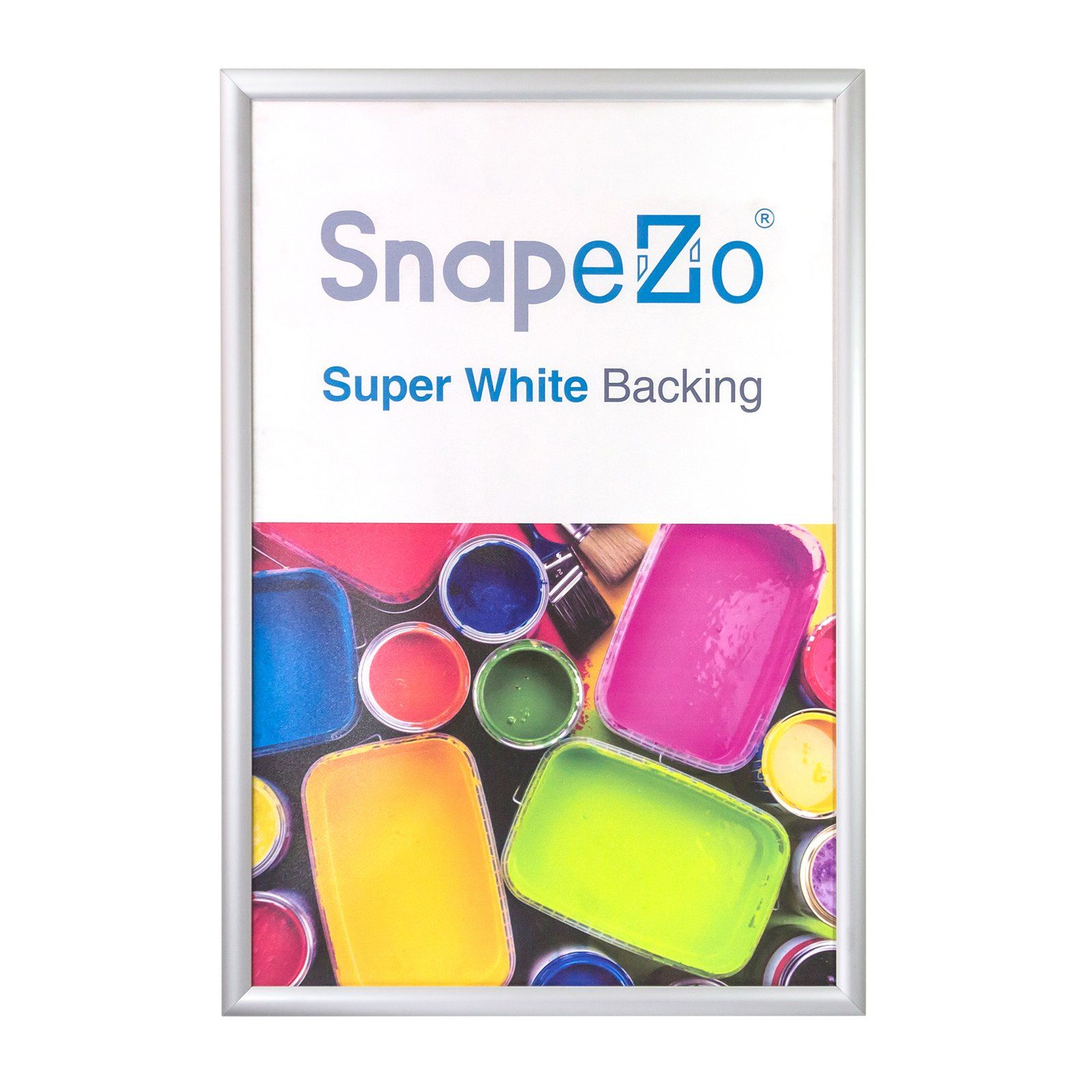 Silver SnapeZo® snap frame poster size 24x48 - 1.7 inch profile ...