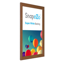 Load image into Gallery viewer, 11x17 Dark Wood SnapeZo® Snap Frame - 1.2 Inch Profile