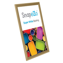"Load image into Gallery viewer, 11x17 Gold SnapeZo® Snap Frame - 1"" Profile"