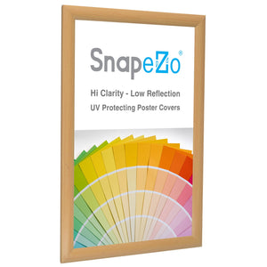 11x17 Light Wood SnapeZo® Snap Frame - 1 Inch Profile