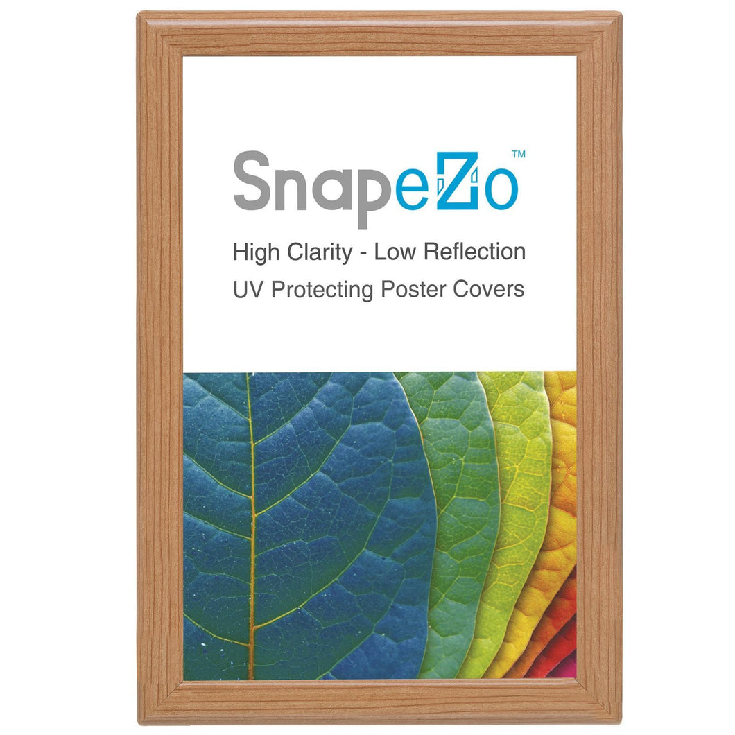 11x17 Light Wood SnapeZo® Snap Frame - 1.2 Inch Profile