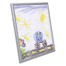 Load image into Gallery viewer, Silver Kids' Arts SnapeZo® snap frame poster size 8.5X11 - 0.6 inch profile