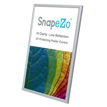 Load image into Gallery viewer, 11x17 Silver SnapeZo® Snap Frame - 0.6 Inch Profile