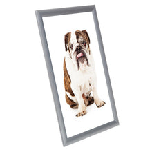 Load image into Gallery viewer, Silver family photo SnapeZo® frame photo size 11X17 - 1 inch profile