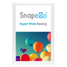 Load image into Gallery viewer, White diploma snap frame poster size 11X17 - 1 inch profile - Snap Frames Direct