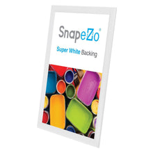 "Load image into Gallery viewer, 11x17 White SnapeZo® Snap Frame - 1"" Profile"