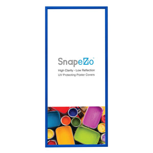 17x38 Blue SnapeZo® Snap Frame - 1.2 Inch Profile