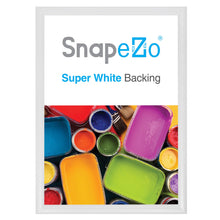 "Load image into Gallery viewer, A2 White SnapeZo® Snap Frame - 1.2"" Profile"