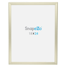 Load image into Gallery viewer, 18x24 Cream SnapeZo® Snap Frame - 1.25 Inch Profile