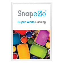 "Load image into Gallery viewer, 20x30 White SnapeZo® Snap Frame - 1"" Profile"