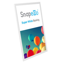 "Load image into Gallery viewer, 20x30 White SnapeZo® Snap Frame - 1.25"" Profile"