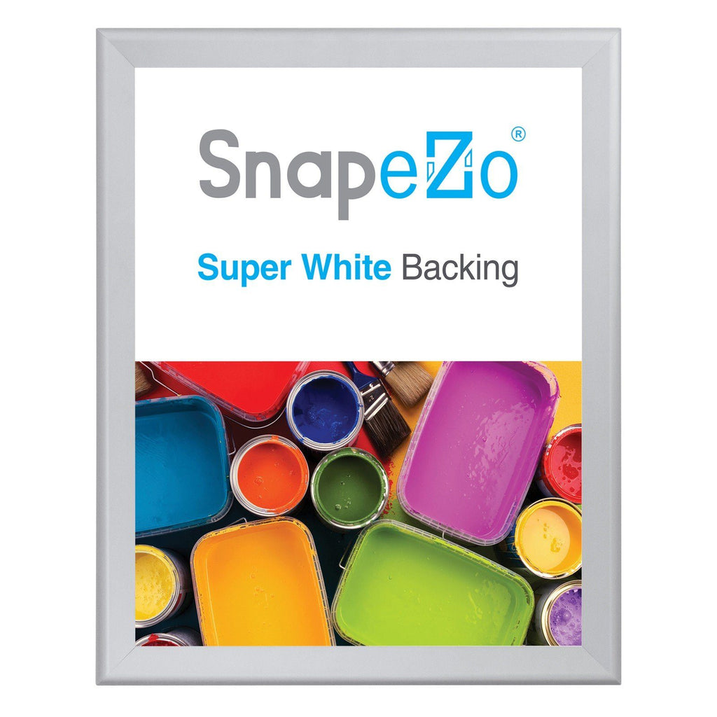 Silver snap frame poster size 22X28 - 1.4 inch profile - Snap Frames Direct