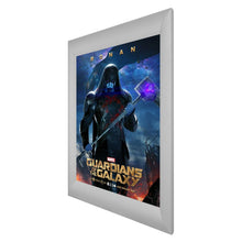 Load image into Gallery viewer, Silver SnapeZo® snap frame poster size 27x40 - 2.2 inch profile