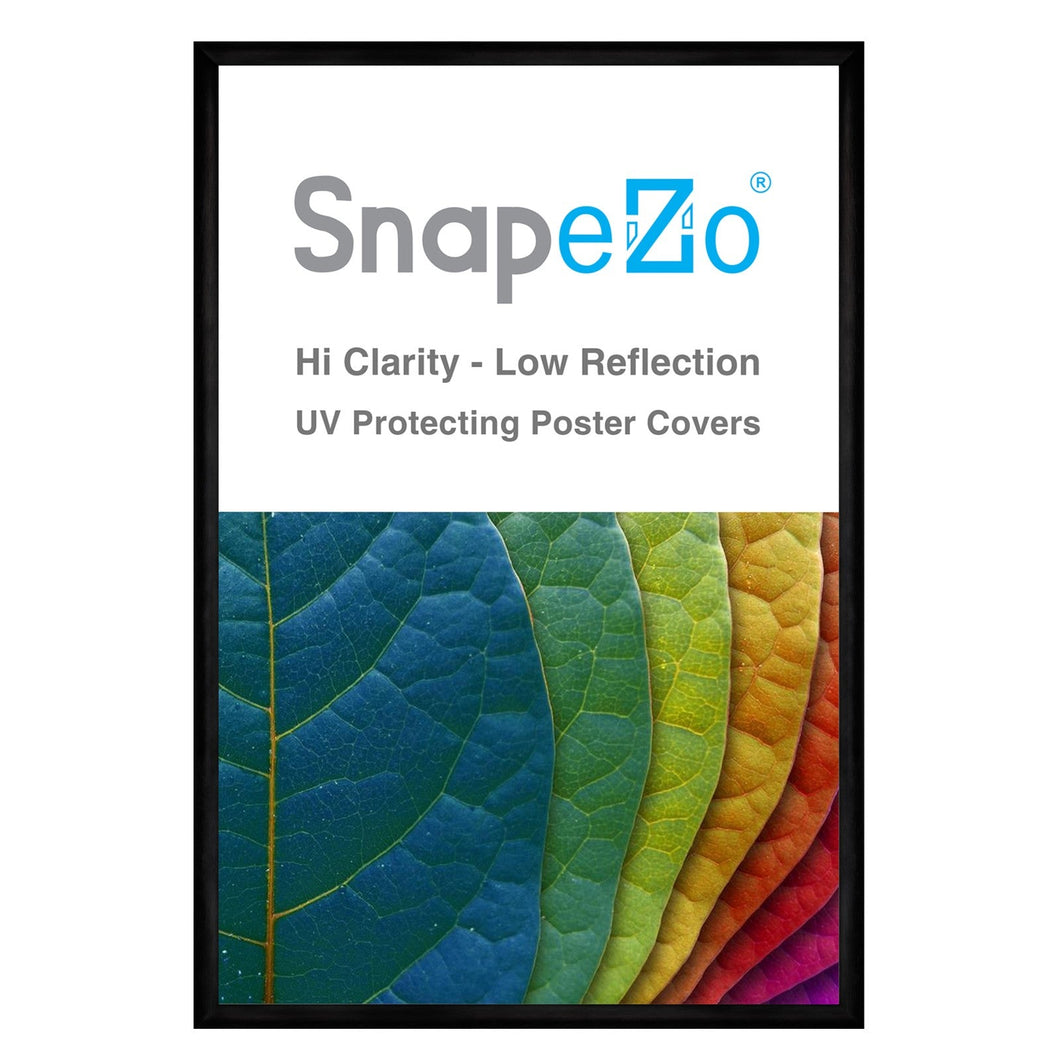 11x17 Brushed Black SnapeZo® Snap Frame - 1 Inch Profile