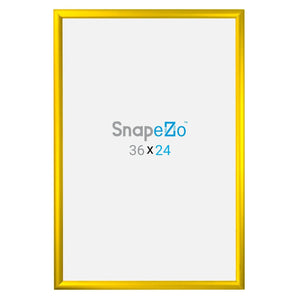 24x36 Yellow SnapeZo® Snap Frame - 1.2 Inch Profile