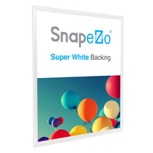 "Load image into Gallery viewer, 36x48 White SnapeZo® Snap Frame - 1.25"" Profile"