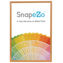 Load image into Gallery viewer, 36x48 Light Wood SnapeZo® Snap Frame - 1.25 Inch Profile