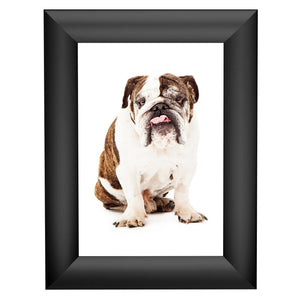 Black family photo SnapeZo® frame photo size 5x7 - 1 inch profile