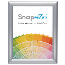 Load image into Gallery viewer, 8x10 Brushed Silver SnapeZo® Snap Frame - 1 Inch Profile