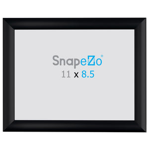 8.5x11 Brushed Black SnapeZo® Snap Frame - 1 Inch Profile
