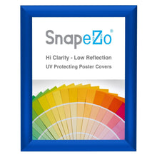 Load image into Gallery viewer, 8.5x11 Blue SnapeZo Snap Frame - 1 Inch Profile