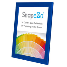 "Load image into Gallery viewer, 8.5x11 Blue SnapeZo® Snap Frame - 1"" Profile"