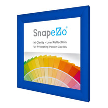 Load image into Gallery viewer, 10x10 Blue SnapeZo® Snap Frame - 1.2 Inch Profile