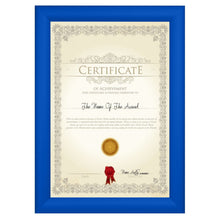 Load image into Gallery viewer, 12x15 Blue SnapeZo® Snap Frame - 1.2 Inch Profile