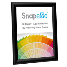 Load image into Gallery viewer, 8.5x11 Black SnapeZo Snap Frame - 1 Inch Profile