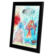 Load image into Gallery viewer, Black Kids' Arts SnapeZo® snap frame poster size 8.5X11 - 1 inch profile