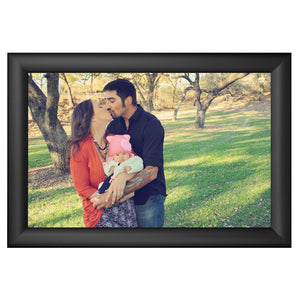 Black family photo SnapeZo® frame photo size 11X17 - 1.2 inch profile