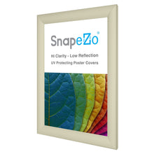 Load image into Gallery viewer, 11x17 Cream SnapeZo® Snap Frame - 1.2 Inch Profile